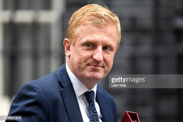 Secretary of State for Digital, Culture, Media and Sport Oliver Dowden at Downing Street on September 21, 2020 in London, England. On Sunday, the...