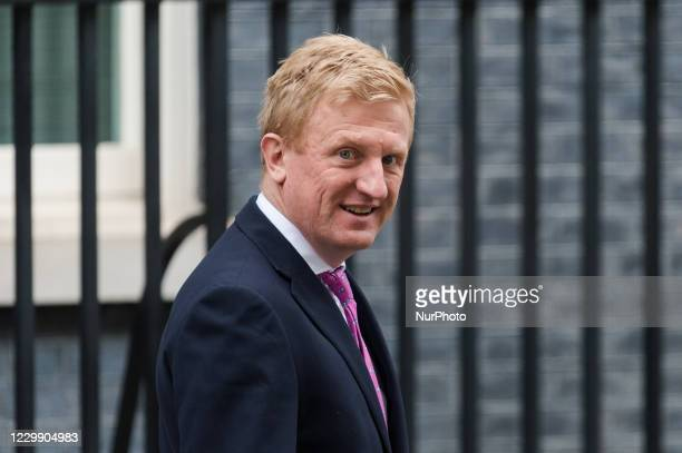 Secretary of State for Digital, Culture, Media and Sport Oliver Dowden leaves 10 Downing Street on 02 December, 2020 in London, England.