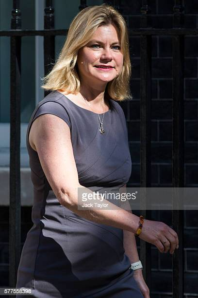 Secretary of State for Education and Minister for Women and Equalities Justine Greening arrives at Downing Street for the weekly cabinet meeting on...