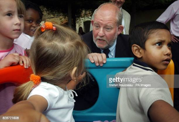 Secretary of State for Education Charles Clarke meets children at BromleybyBow children's centre in east London The centre in is the first of 33...