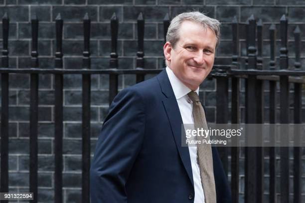 Secretary of State for Education Damian Hinds arrives for a weekly cabinet meeting at 10 Downing Street in central London March 13 2018 in London...