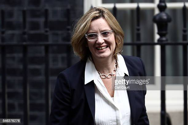 Secretary of State for Energy and Climate Change Amber Rudd arrives to attend a Cabinet meeting at Downing Street on July 12 2016 in London England...