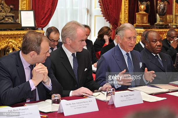 Secretary of State for Energy and Climate Change Ed Davey Justin Mundy Head of Prince's International Unit and His Excellency Mr Ali Bongo President...
