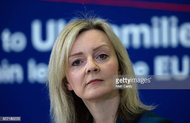 Secretary of State for Environment Food and Rural Affairs Elizabeth Truss speaks at an event at the National Composites Centre at the Bristol and...