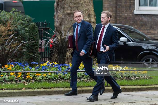 Secretary of State for Environment Food and Rural Affairs George Eustice and Secretary of State for Transport Grant Shapps arrive in Downing Street...