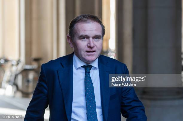 Secretary of State for Environment Food and Rural Affairs George Eustice returns to Downing Street in central London after attending weekly Cabinet...
