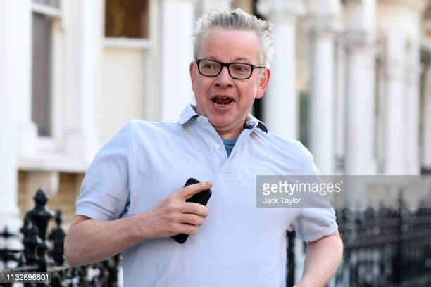 Secretary of State for Environment Food and Rural Affairs Michael Gove out for a jog near his house on March 25 2019 in London England British Prime...