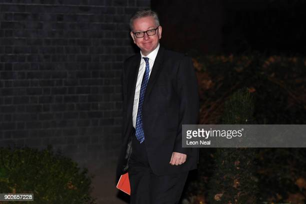 Secretary of State for Environment Food and Rural Affairs Michael Gove arrives at 10 Downing Street as Prime Minister Theresa May reshuffles her...