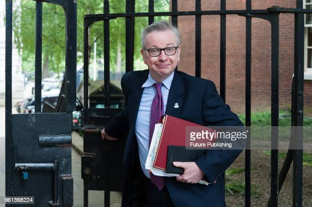 Secretary of State for Environment Food and Rural Affairs Michael Gove leaves after a Cabinet meeting at 10 Downing Street in central London May 22...