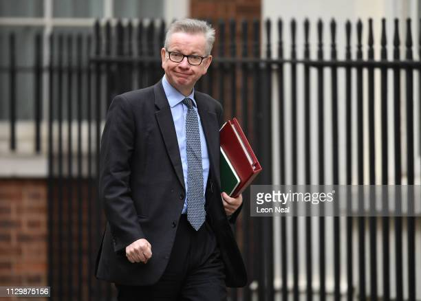 Secretary of State for Environment Michael Gove at 10 Downing Street on March 11 2019 in London England Brexit talks between the EU and UK have been...