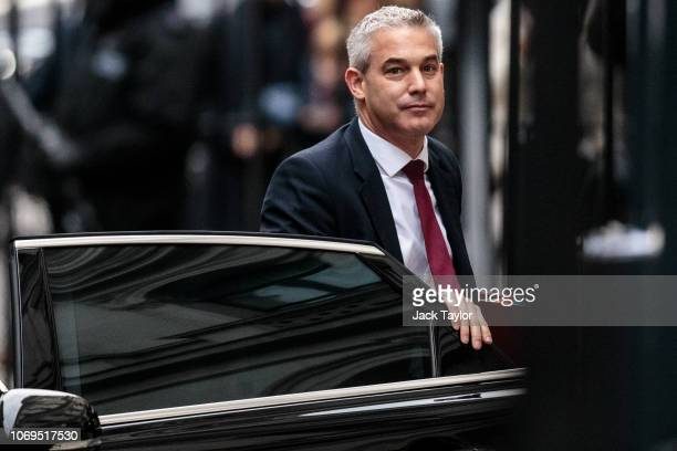 Secretary of State for Exiting the European Union Stephen Barclay arrives at Downing Street on November 19 2018 in London England The newly appointed...