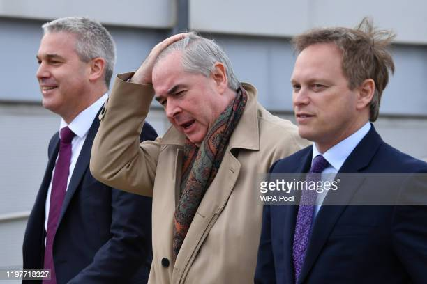 Secretary of State for Exiting the European Union Stephen Barclay Attorney General Geoffrey Cox and Transport Secretary Grant Shapps arrive to attend...