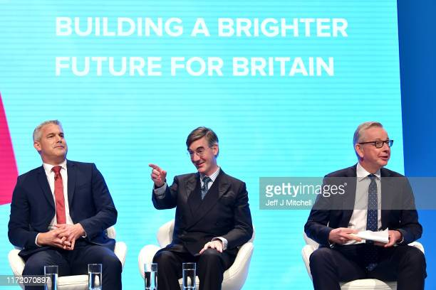 Secretary of State for Exiting the European Union Steve Barclay, Leader of the House of Commons, Jacob Rees-Mogg and Chancellor of the Duchy of...