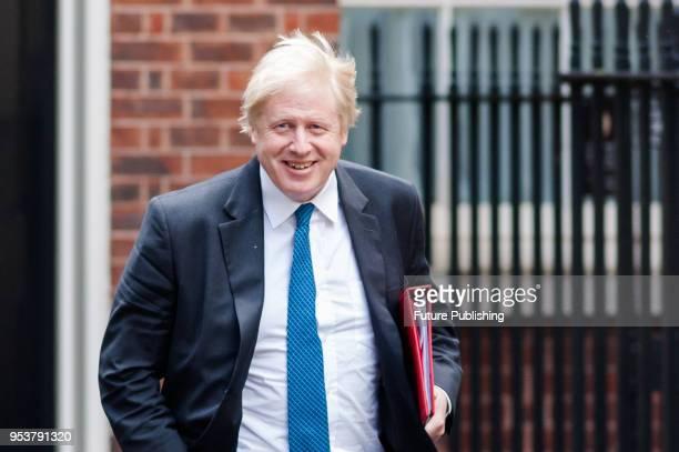 Secretary of State for Foreign and Commonwealth Affairs Boris Johnson arrives for a Brexit Cabinet committee meeting at 10 Downing Street in central...