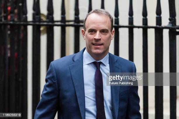 Secretary of State for Foreign and Commonwealth Affairs, First Secretary of State Dominic Raab attends the first Cabinet meeting in Downing Street in...