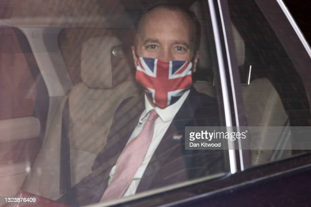 Secretary of State for Health and Social Care Matt Hancock leaves the department of Health for the House of Commons on June 16, 2021 in London,...