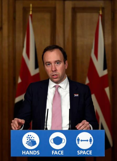 GBR: UK Health Secretary Holds Virtual Covid-19 Press Conference