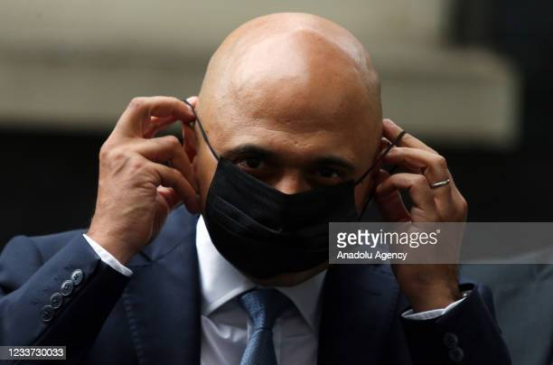 Secretary of State for Health and Social Care Sajid Javid leaves 10 Downing Street in London, England on June 30, June.