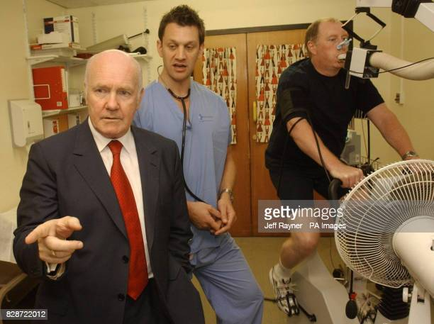 *Secretary Of State for Health John Reid meets with Cardiac Physiologist Luke Horsefield and Steve Martin at Great Ormond Street Hospital in London...