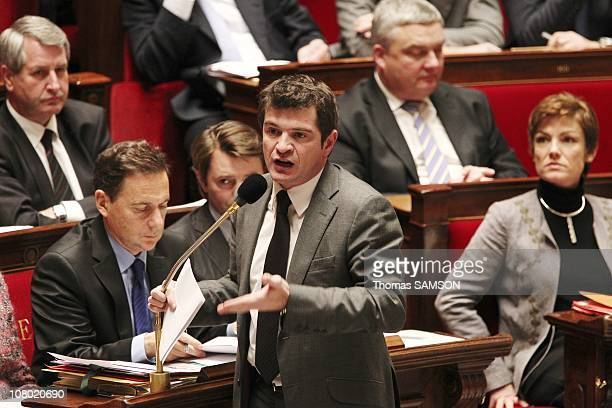 Secretary of State for Housing Benoist Apparu at a session of questions to the government at the French National Assembly on December 14 2010 in...