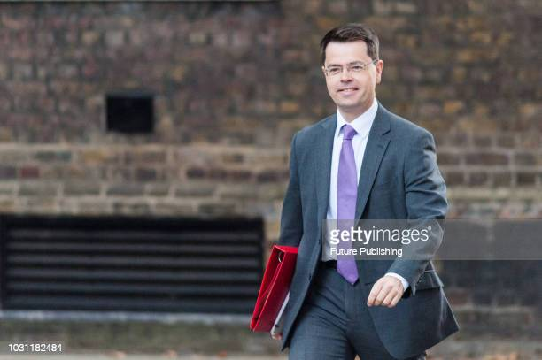 Secretary of State for Housing Communities and Local Government James Brokenshire arrives for a weekly cabinet meeting at 10 Downing Street in...
