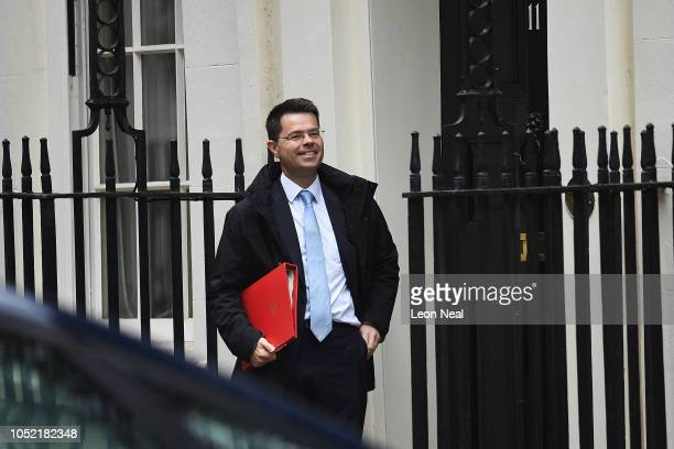 Secretary of State for Housing Communities and Local Government James Brokenshire arrives at Number 11 Downing Street on October 15 2018 in London...