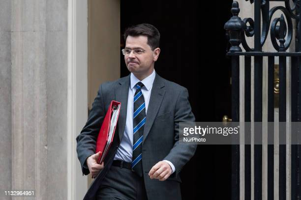 Secretary of State for Housing Communities and Local Government James Brokenshire leaves 10 Downing Street in central London after weekly Cabinet...