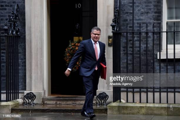 Secretary of State for International Development Alok Sharma departs 10 Downing Street on December 17, 2019 in London, England. British Prime...