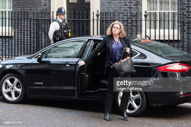 Secretary of State for International Development and Minister for Women and Equalities Penny Mordaunt arrives for a Cabinet meeting at 10 Downing...