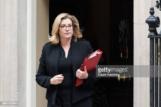 Secretary of State for International Development and Minister for Women and Equalities Penny Mordaunt leaves after a Cabinet meeting at 10 Downing...