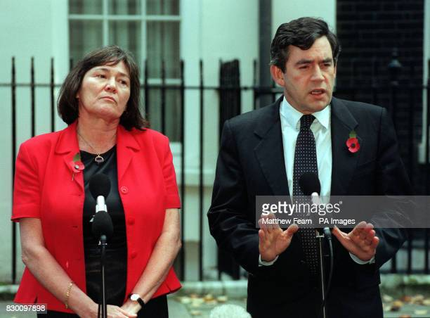 Secretary of State for International Development Clare Short and Chancellor of the Exchequer Gordon Brown in Downing Street this afternoon to...