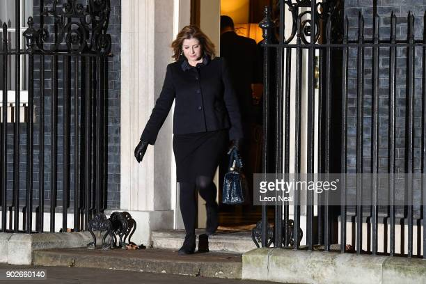 Secretary of State for International Development Penny Mordaunt leaves 10 Downing Street after retaining her position as Prime Minister Theresa May...