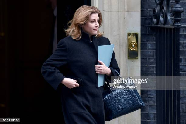 Secretary of State for International Development Penny Mordaunt leaves after a cabinet meeting ahead of the Chancellor's annual budget at 10 Downing...