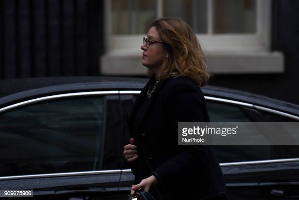Secretary of State for International Development Penny Mordaunt leaving Downing Street after a meeting with the Prime Minister before Prime Minster...