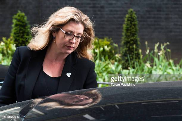 Secretary of State for International Development Penny Mordaunt leaves after a Cabinet meeting at 10 Downing Street in central London May 22 2018 in...