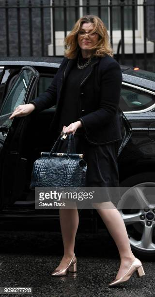 Secretary of State for International Development Penny Mordaunt arriving at Downing Street for a meeting with the Prime Minister before Prime Minster...