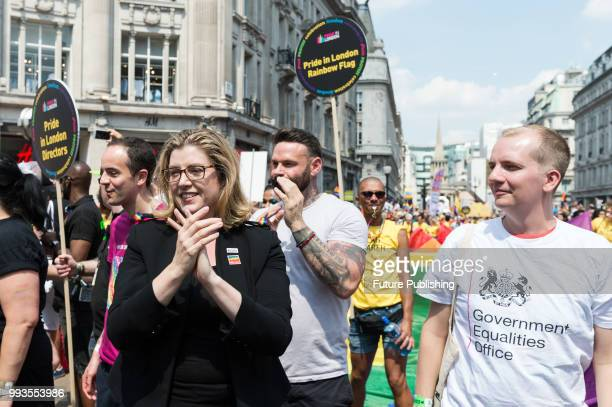 Secretary of State for International Development Penny Mordaunt takes part in Pride in London parade The annual festival attracts hundreds of...