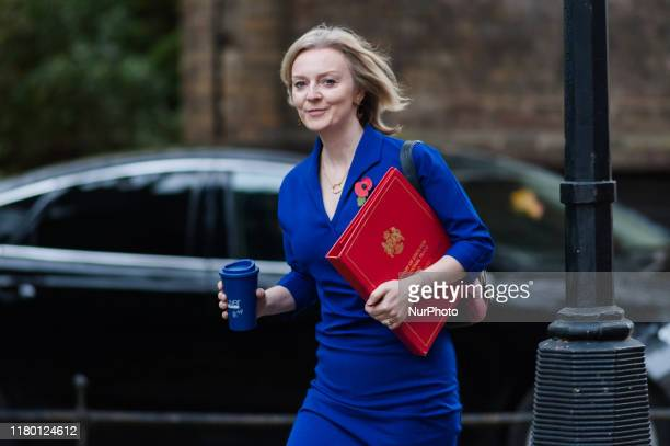 Secretary of State for International Trade and President of the Board of Trade, Minister for Women and Equalities Elizabeth Truss attends the Cabinet...