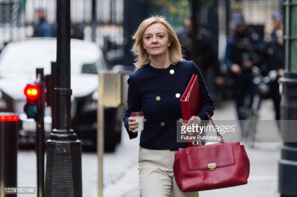 Secretary of State for International Trade and President of the Board of Trade Minister for Women and Equalities Liz Truss arrives in Downing Street...
