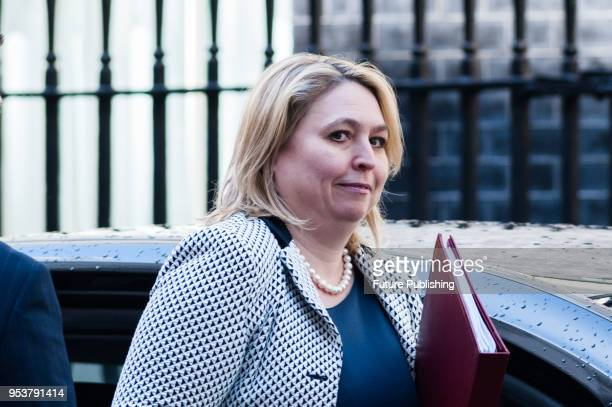 Secretary of State for Northern Ireland Karen Bradley arrives for a Brexit Cabinet committee meeting at 10 Downing Street in central London to...