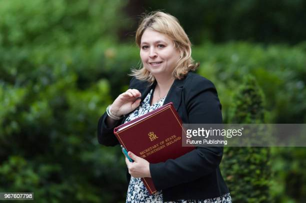 Secretary of State for Northern Ireland Karen Bradley arrives for a weekly cabinet meeting at 10 Downing Street in central London June 05 2018 in...