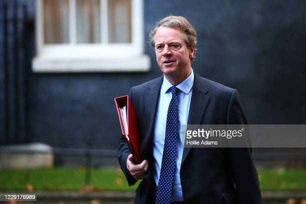 Secretary of State for Scotland Alister Jack arrives in Downing Street for the weekly cabinet meeting on October 20 2020 in London England Boris...