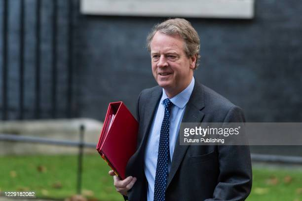 Secretary of State for Scotland Alister Jack arrives in Downing Street in central London to attend Cabinet meeting at the Foreign Office on 20...