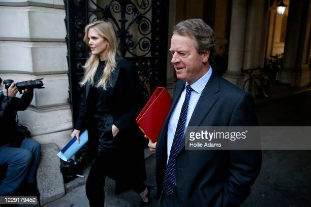 Secretary of State for Scotland Alister Jack returns to Downing Street after the weekly cabinet meeting on October 20 2020 in London England Boris...