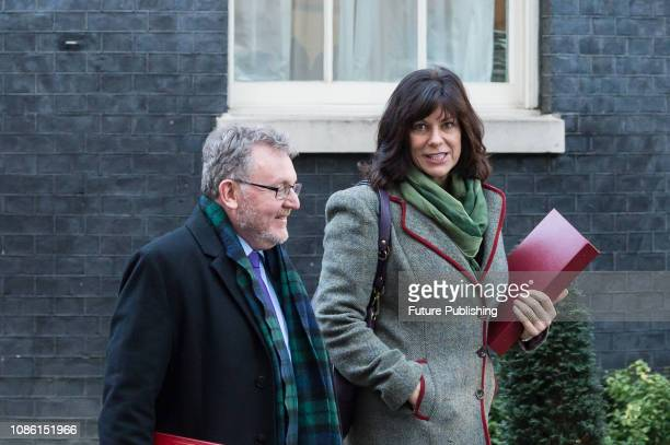 Secretary of State for Scotland David Mundell and Minister of State for Energy and Clean Growth Claire Perry leave after a Cabinet meeting at 10...