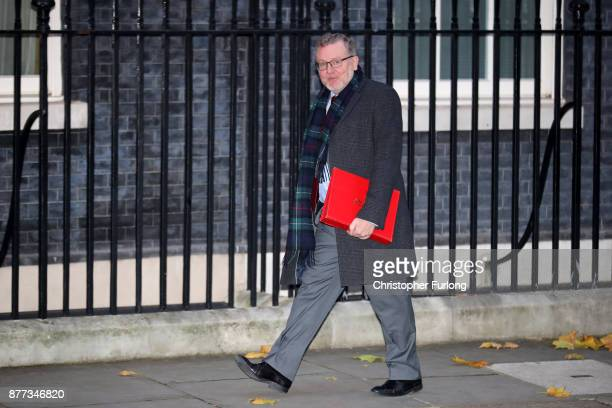 Secretary of State for Scotland David Mundell arrives for a cabinet meeting ahead of the Chancellor's annual budget at 10 Downing Street on November...