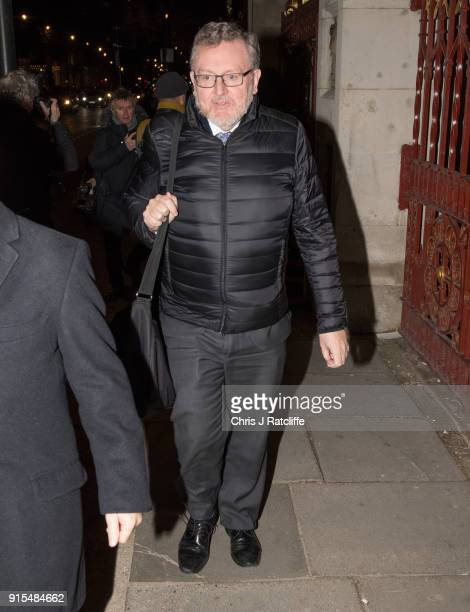 Secretary of State for Scotland David Mundell arrives for the Conservative party Black and White Ball at Natural History Museum on February 7 2018 in...