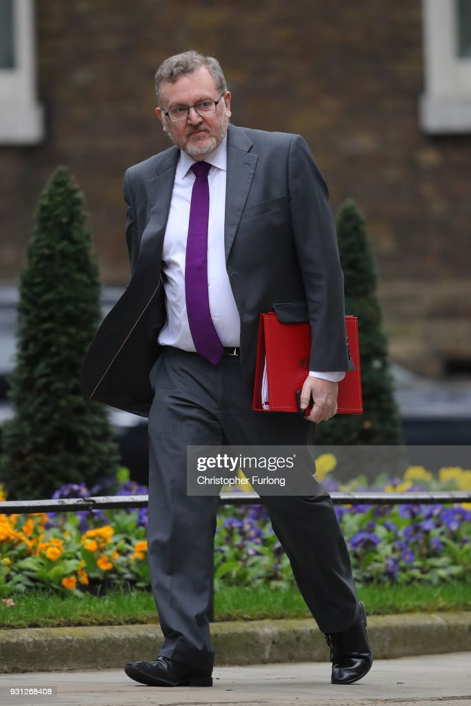 Secretary of State for Scotland, David Mundell arrives for the weekly cabinet meeting at 10 Downing Street on March 13, 2018 in London, England.