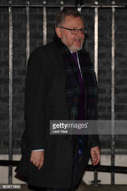 Secretary of State for Scotland David Mundell leaves 10 Downing Street after retaining his position as Prime Minister Theresa May reshuffles her...