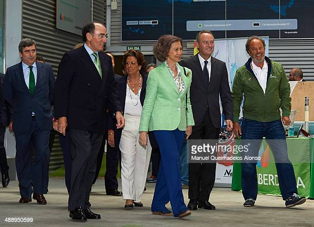 Secretary of State for Sport Miguel Cardenal president of Iberdrola energy group Ignacio Sanchez Galan Rita Barbera Queen Sofia of Spain and Alberto...